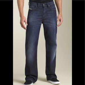 Diesel Quratt Straight Leg Dirty On Purpose Jeans